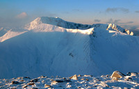 Ben Nevis from Aonach Mor, early morning