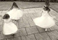 Twirling flower girls 1
