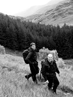 Robbie and Malcolm heading up to Bealach an Lapain