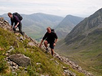 Steve and Martin approaching Grey Crags