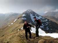 Malcolm and Doug with Sgurr an Lochain behind