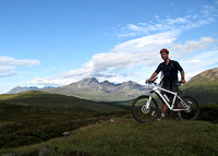 Callum with the Cuillin behind