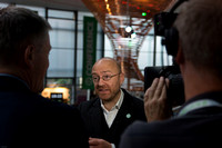 Patrick Harvie being interviewed by Border TV
