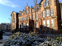 Trinity Academy in cold weather